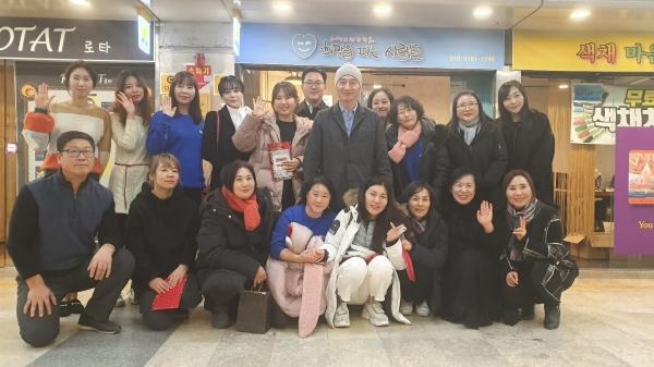 대전SL 마음쉼터이자 희망을 파는 사람들 대전지부 오픈식에 참여한 자원봉사자들