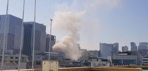 [1보] 을지로4가 인근 화재로 솟아 오르는 많은 연기